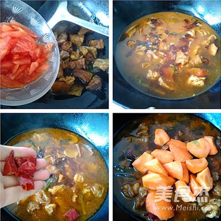 胡萝卜烧牛肉的家常做法