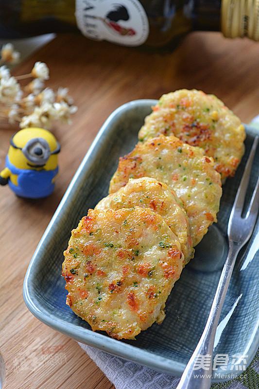鲜虾小肉饼成品图