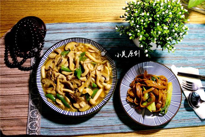 清淡的下飯菜炒菌菇成品圖