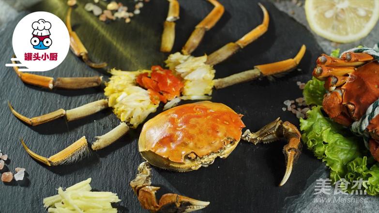 大闸蟹的正确吃法成品图