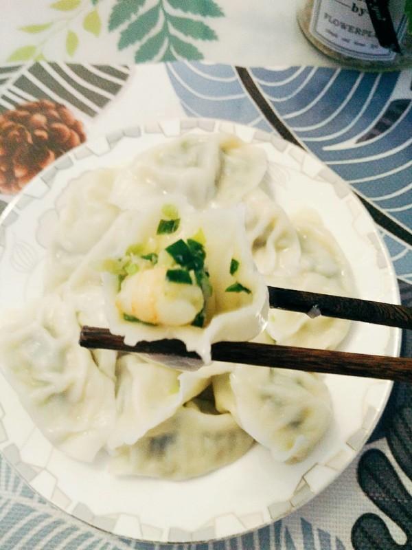 韭菜虾仁水饺成品图
