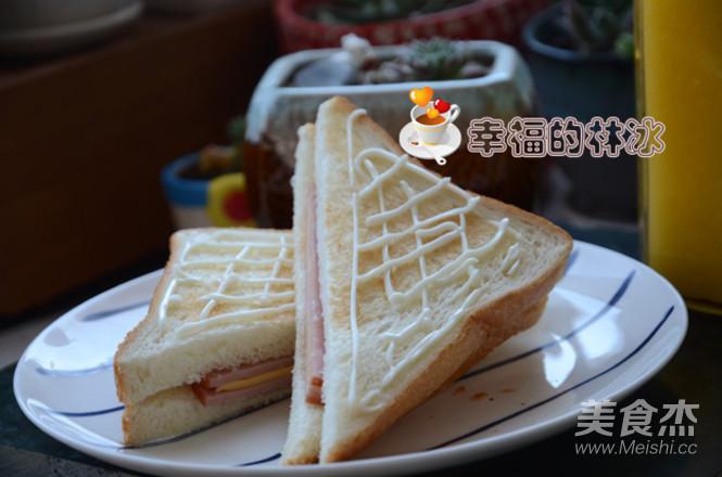 网格三明治成品图