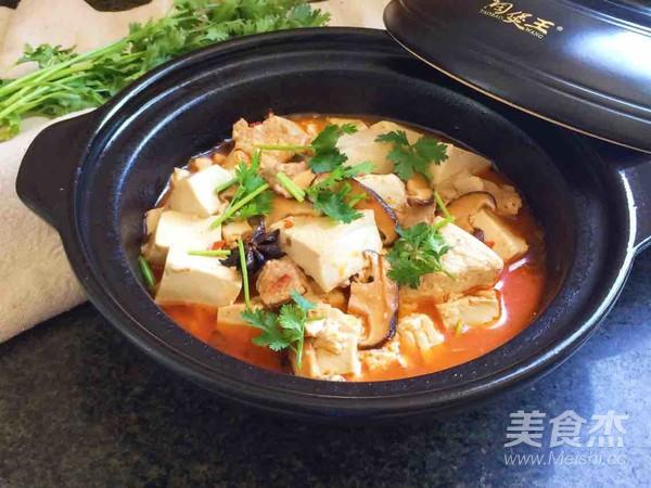 砂锅豆腐成品图
