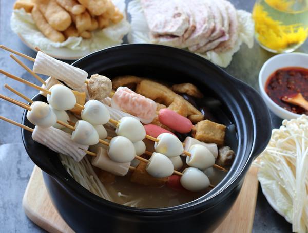 杂烩浓汤小火锅成品图