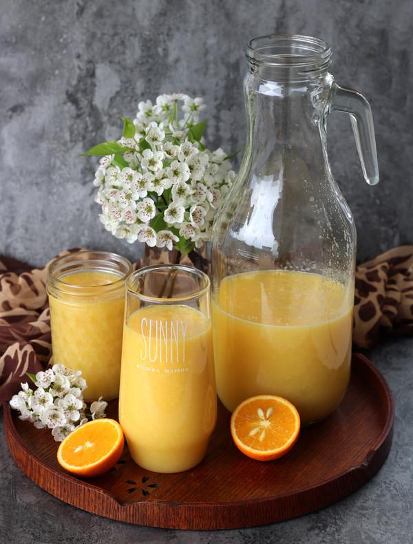 雪梨橙汁怎么做
