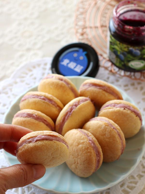 蓝莓夹心小蛋糕成品图