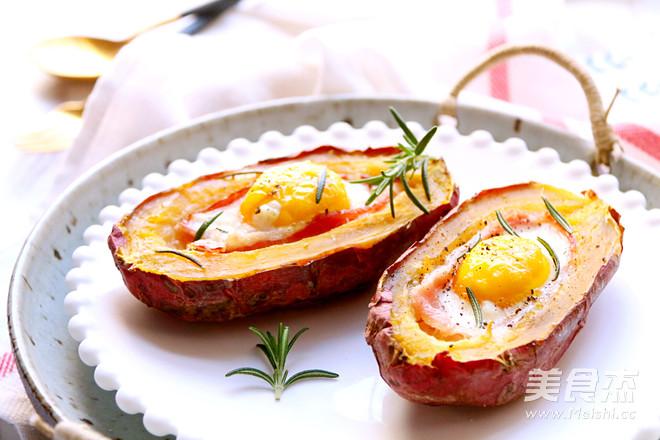 红薯烤蛋成品图