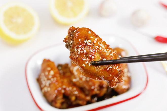 蜜汁鸡翅成品图