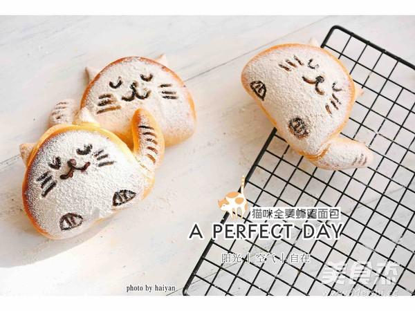 可爱猫--全麦蜂蜜小面包成品图