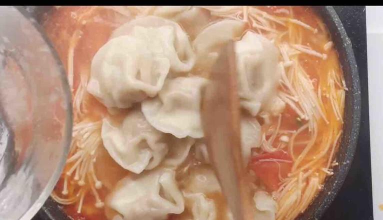 番茄菌菇风味汤饺怎么炒