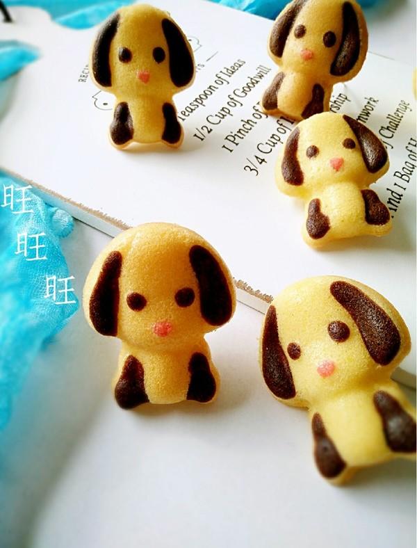 小狗连模蛋糕成品图