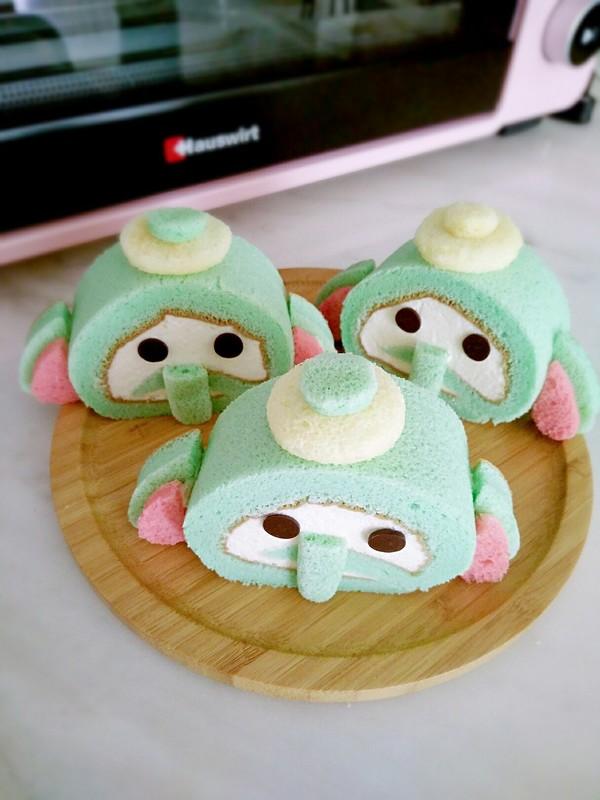 小飞象蛋糕卷成品图