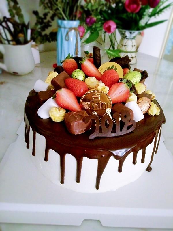 巧克力淋面蛋糕成品图