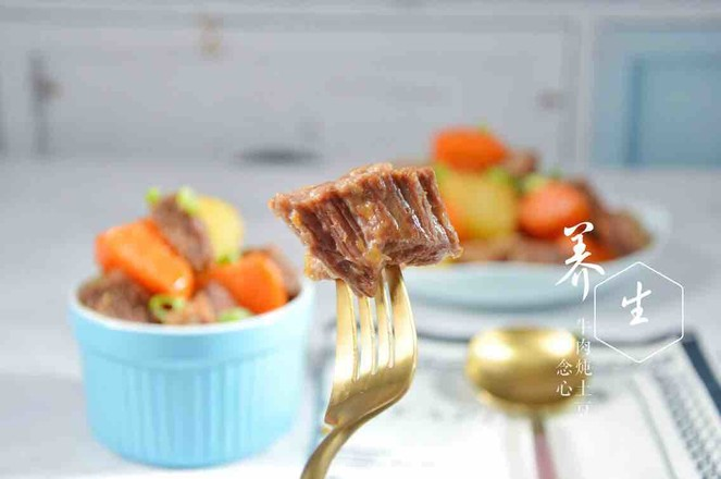 牛肉炖土豆成品图