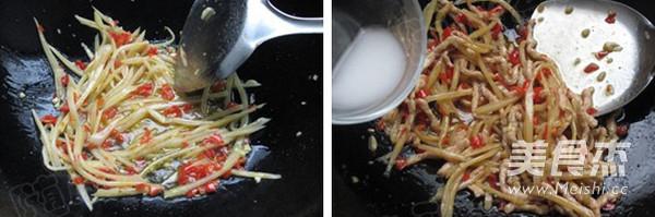 泡姜鱼香肉丝的简单做法