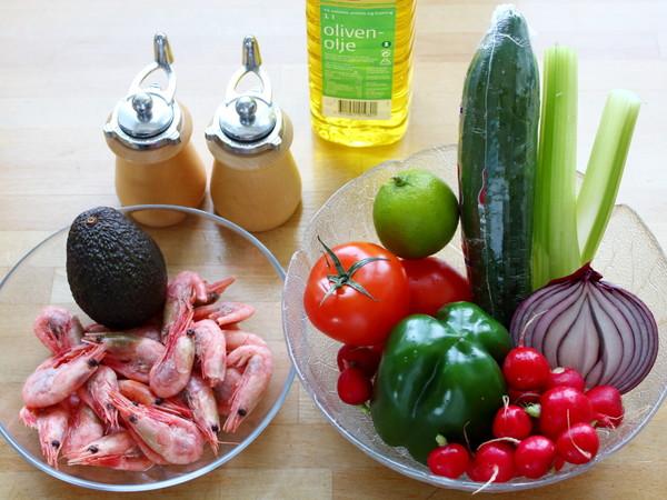 鳄梨北极甜虾沙拉的做法大全