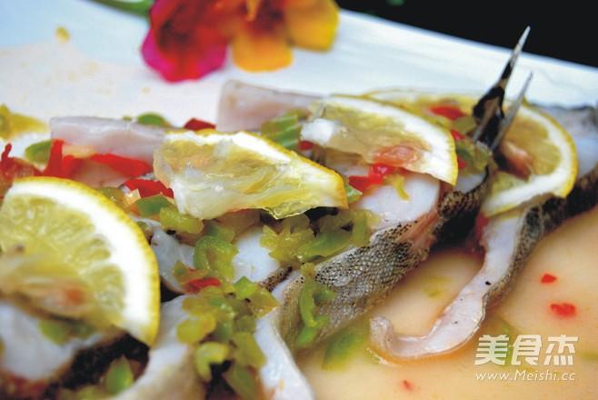 柠香鳜鱼成品图