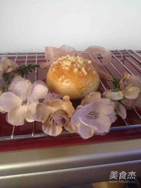 紫薯夹心酥粒包成品图