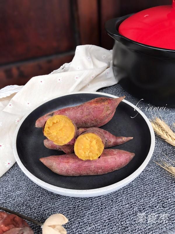 砂锅烤红薯成品图