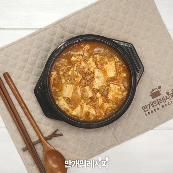 豆腐调味大酱汤成品图