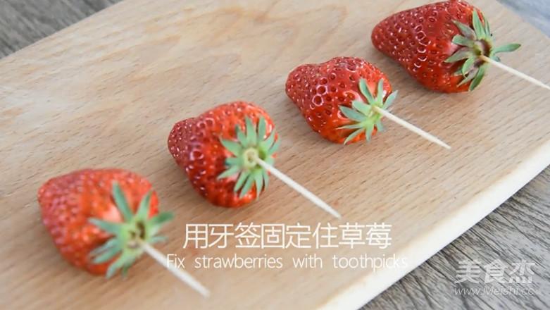 草莓夹心巧克力的做法图解