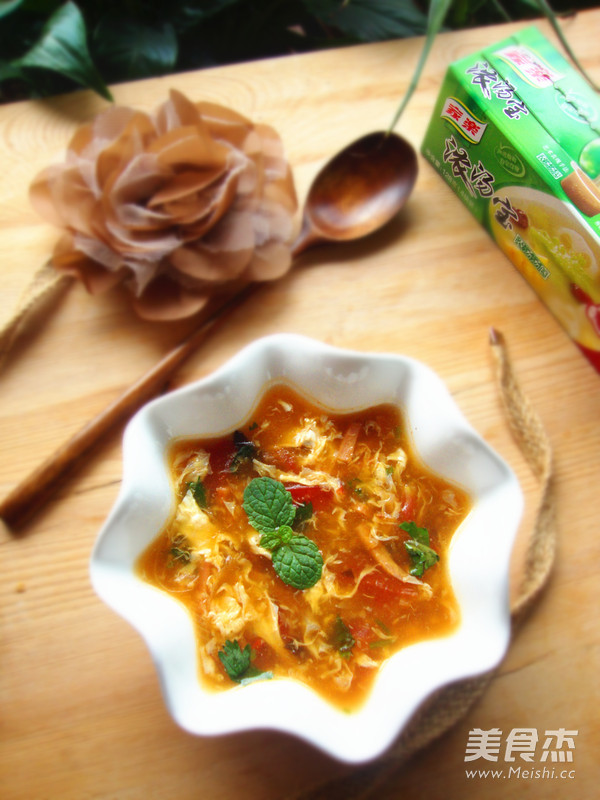西红柿蛋汤成品图