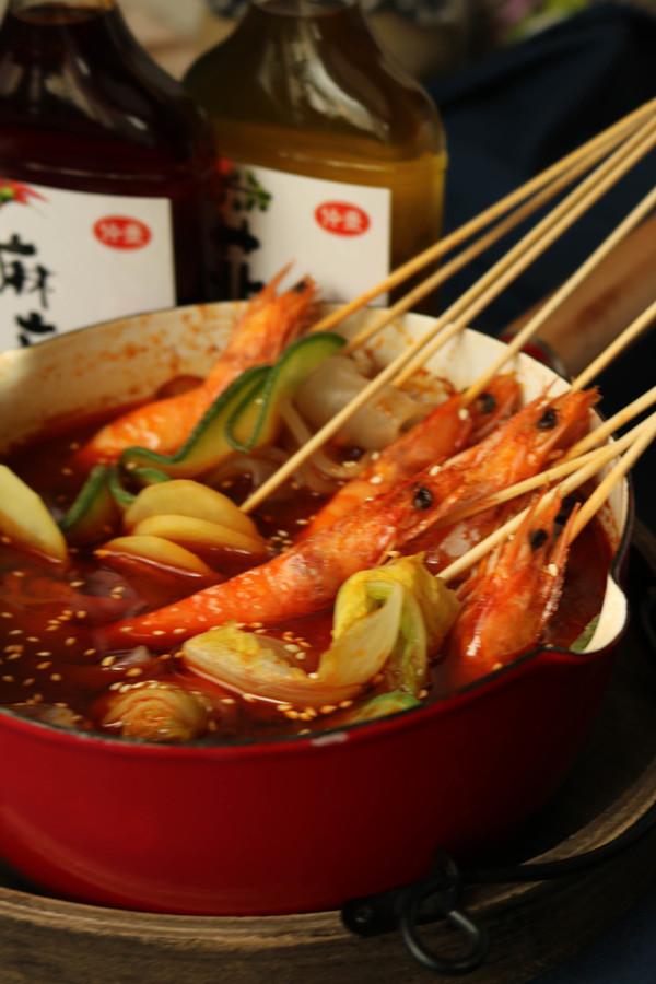 香辣串串虾成品图