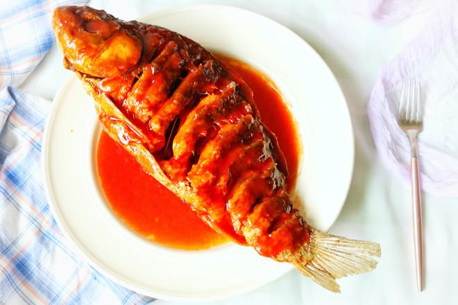 糖醋鱼成品图