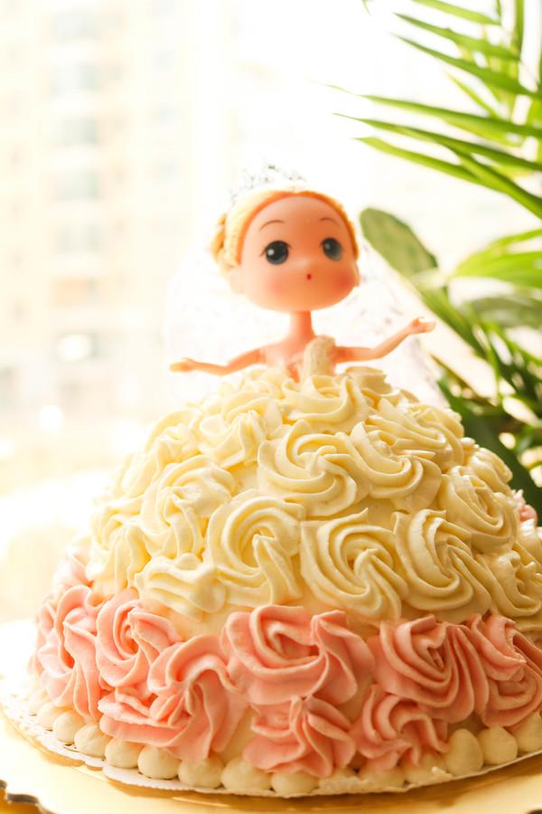 芭比蛋糕成品图
