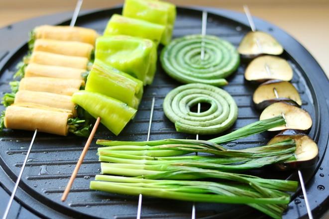 烤蔬菜全家福怎么吃