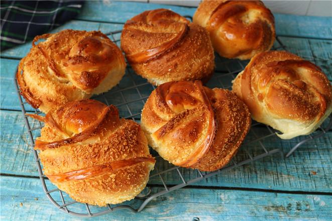 椰蓉花环面包的制作方法