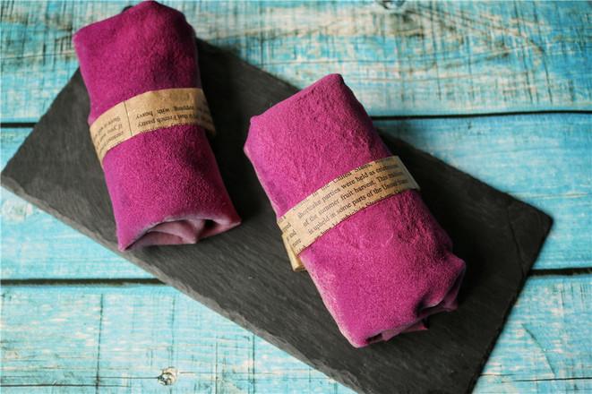 紫薯毛巾卷成品图