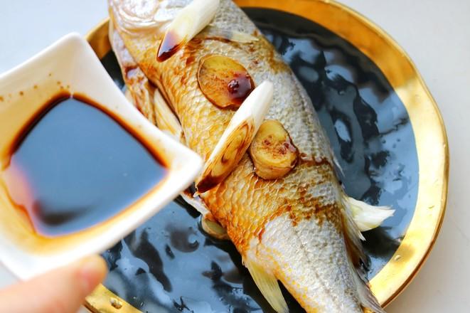 葱油黄花鱼的简单做法