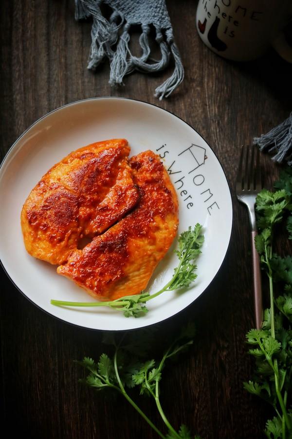 韩式泡菜鸡排成品图