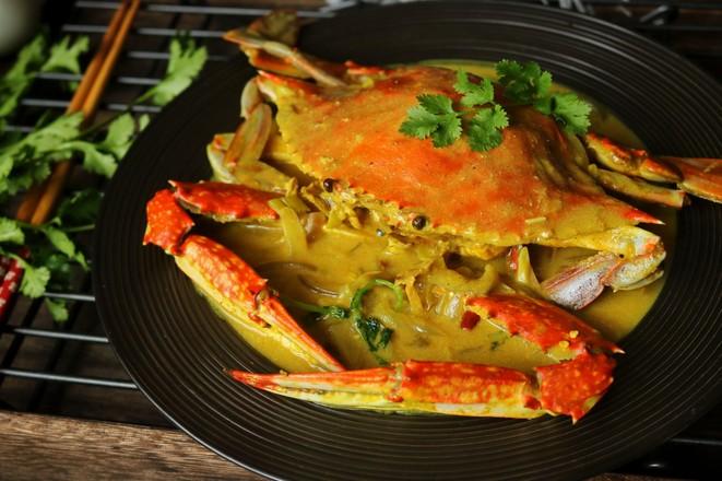 咖喱蟹成品图