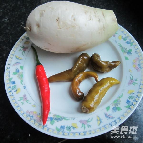 酸辣白萝卜丝的做法