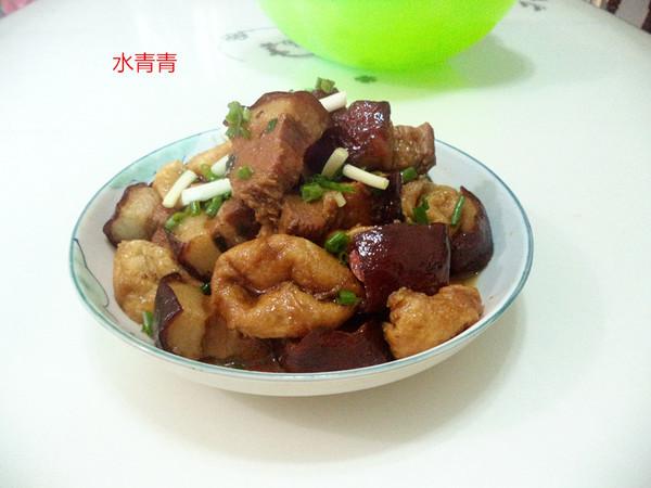 油豆腐焖东坡肉成品图