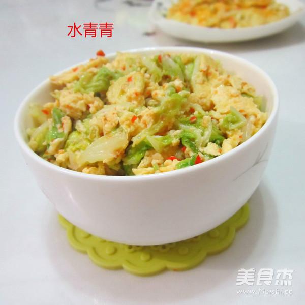 白菜煎蛋成品图