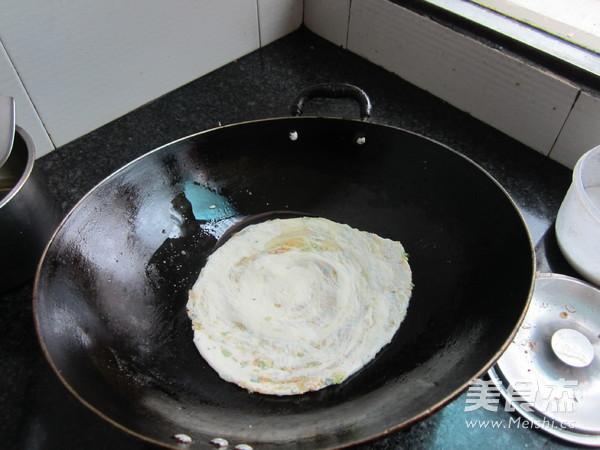 油渣素菜煎饼的制作方法