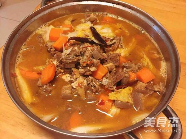 香浓羊肉汤成品图