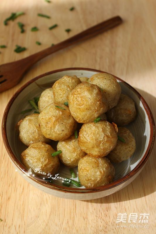 土豆丸子成品图