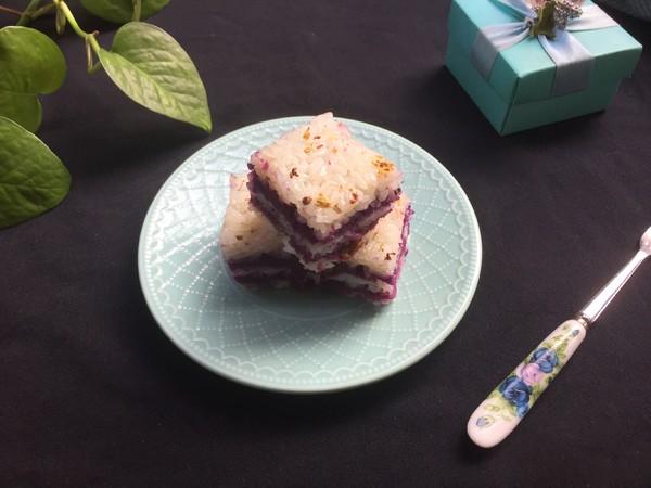糯米紫薯糕成品图