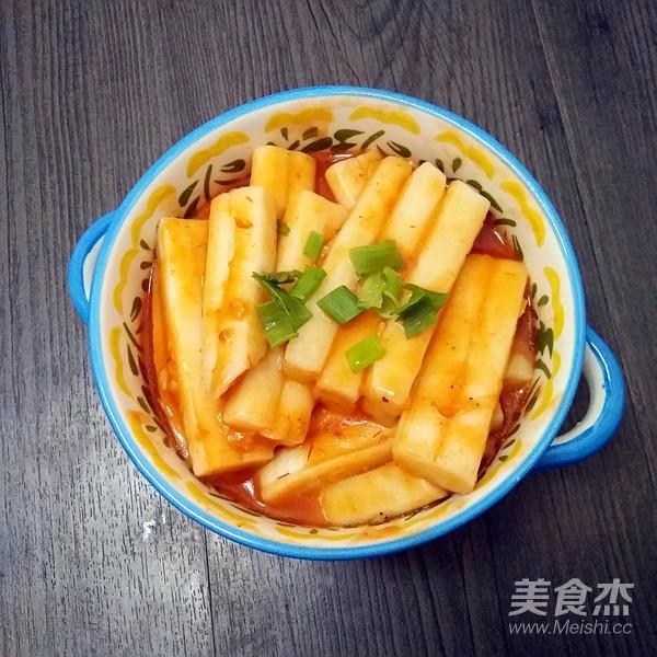 茄汁炒年糕成品图
