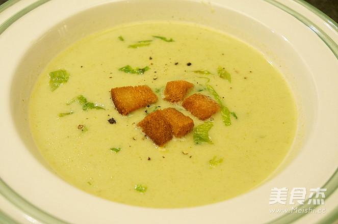 奶油生菜浓汤成品图