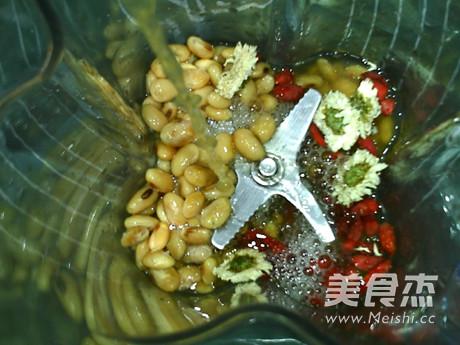 菊花枸杞熟豆豆浆怎么做