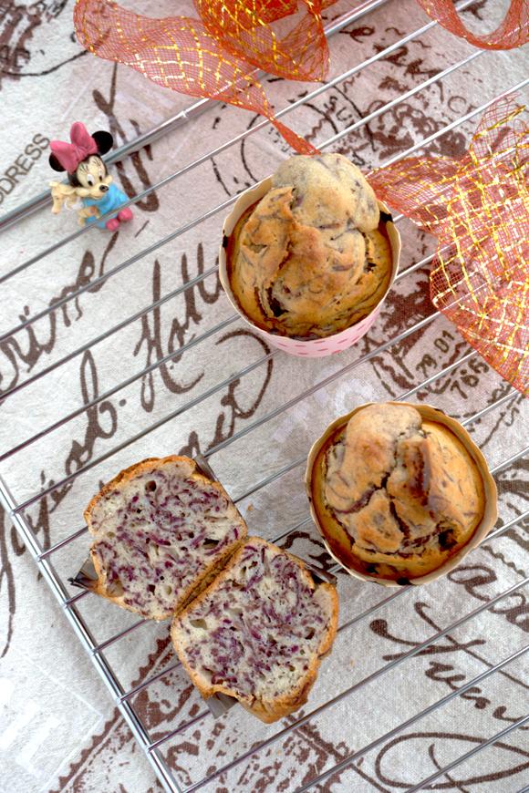 蜂蜜紫薯甜蛋糕成品图