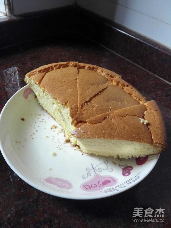 戚风蛋糕成品图