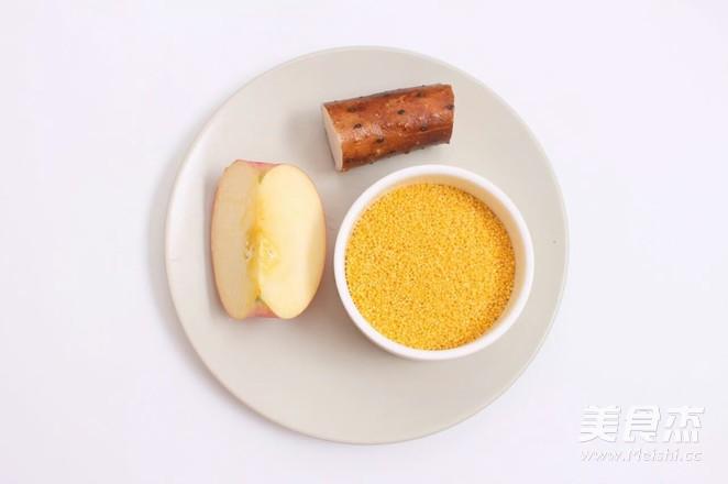 小米山药苹果粥 宝宝腹泻食疗的做法大全