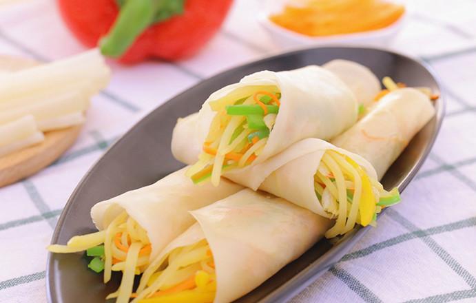 春饼(饺子皮版)宝宝辅食食谱成品图