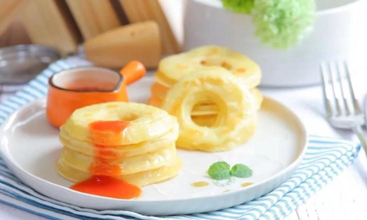 苹果甜甜圈  宝宝辅食食谱成品图